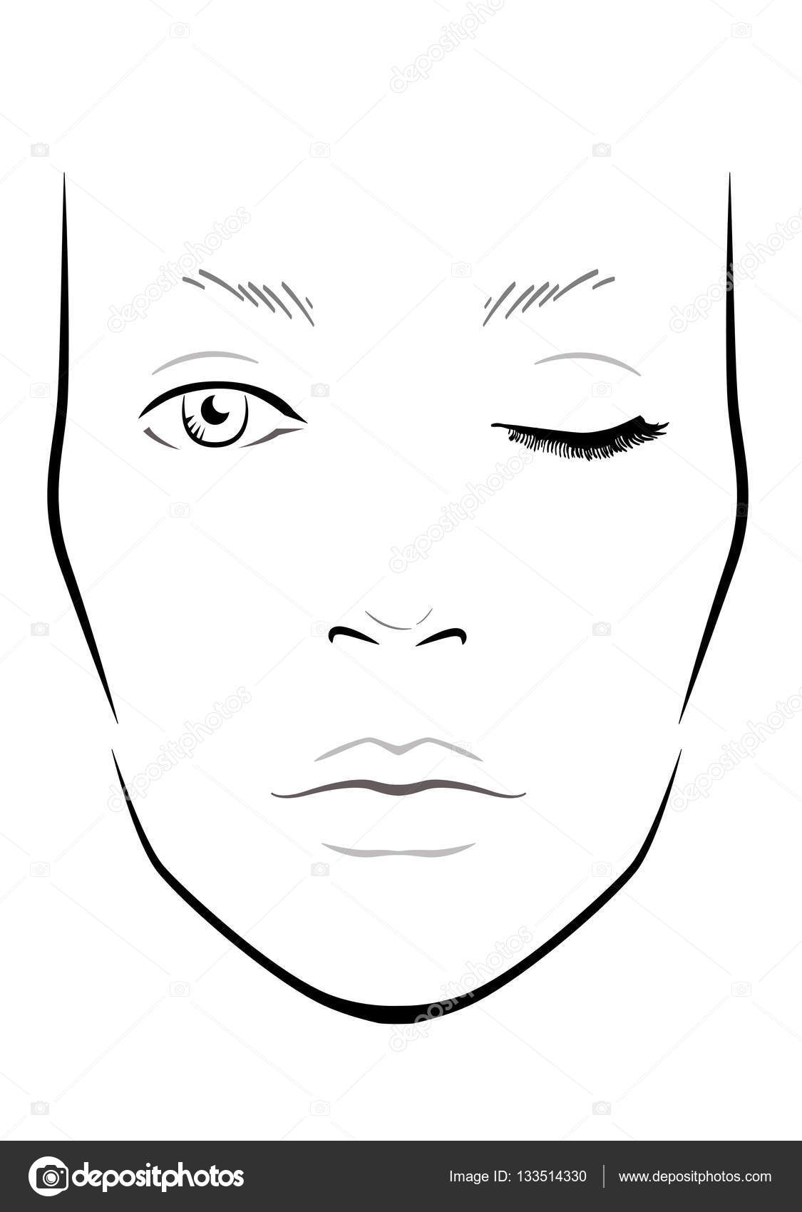 blank eye template for makeup wwwimgkidcom the image