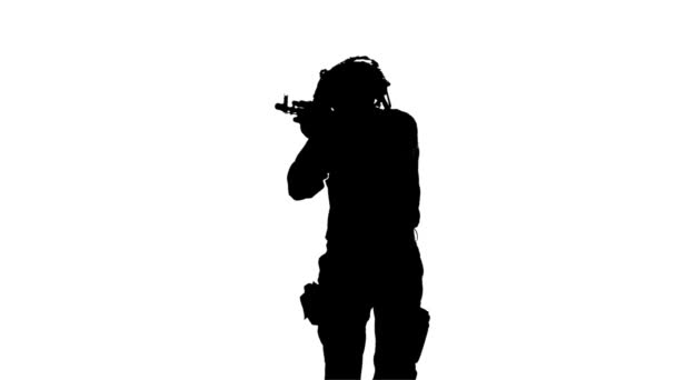 Weapons in the hands of. Silhouette