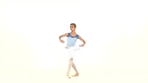 Beautiful female ballet dancer, slow motion