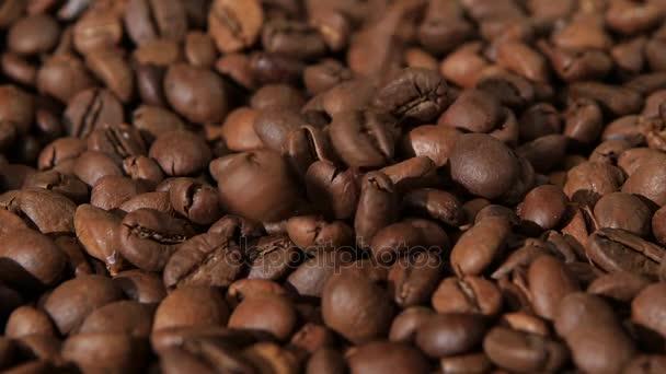 Kaffeebohnen fallen auf Entlassung noch Körner von Kaffee. Slow-motion