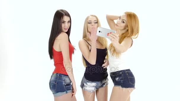 Жоп больших девушки позируют на видеокамеру