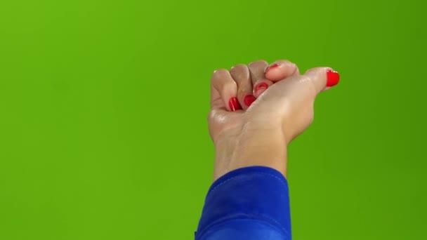Gesto pravé ruky přijde ke mně. Zelená obrazovka