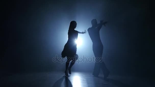 Emotional and graceful jive dance performed by champions, smoky studio