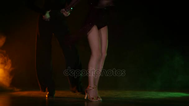 Dance element from the latino, pair of champions. Color background