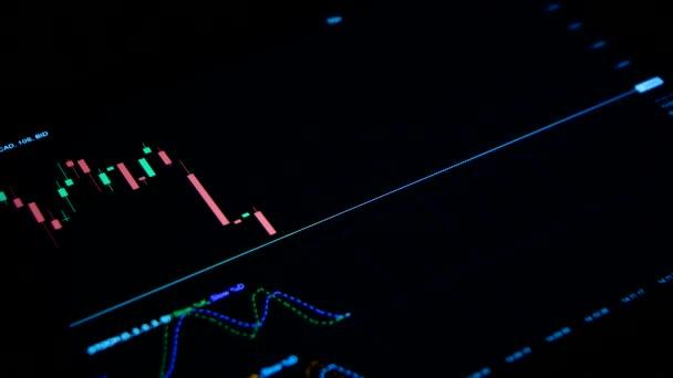 Külföldi tőzsde piac forex gyertya grafikon-fekete háttér