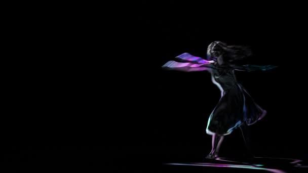 Disegno Di Una Ballerina : Contorni al neon computer disegno della ballerina in posa su