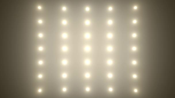Povodňových světla disco pozadí. Blikající světlé bílé bodové světlo žárovky