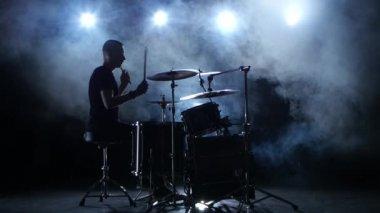 Silhouette drum Stock Videos, Royalty Free Silhouette drum