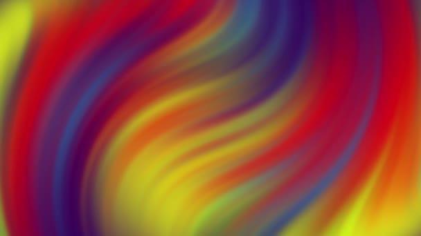 Jasné barevné bezešvé smyčka zvrácený gradient pozadí.3d vykreslit řádky barevné fialová červená žlutá modrá pruhy vlnění