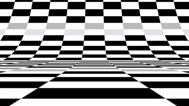 Verpixelte digitale Bildschirmtextur mit einem monochromen Schwarz-Weiß-Muster, das sich zufällig ändert. Farbanimation
