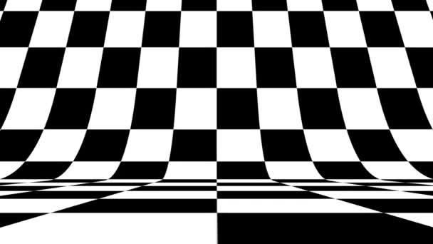 Schwarz-weiße Mustersteine vertikal. Künftige geometrische Muster Bewegungshintergrund