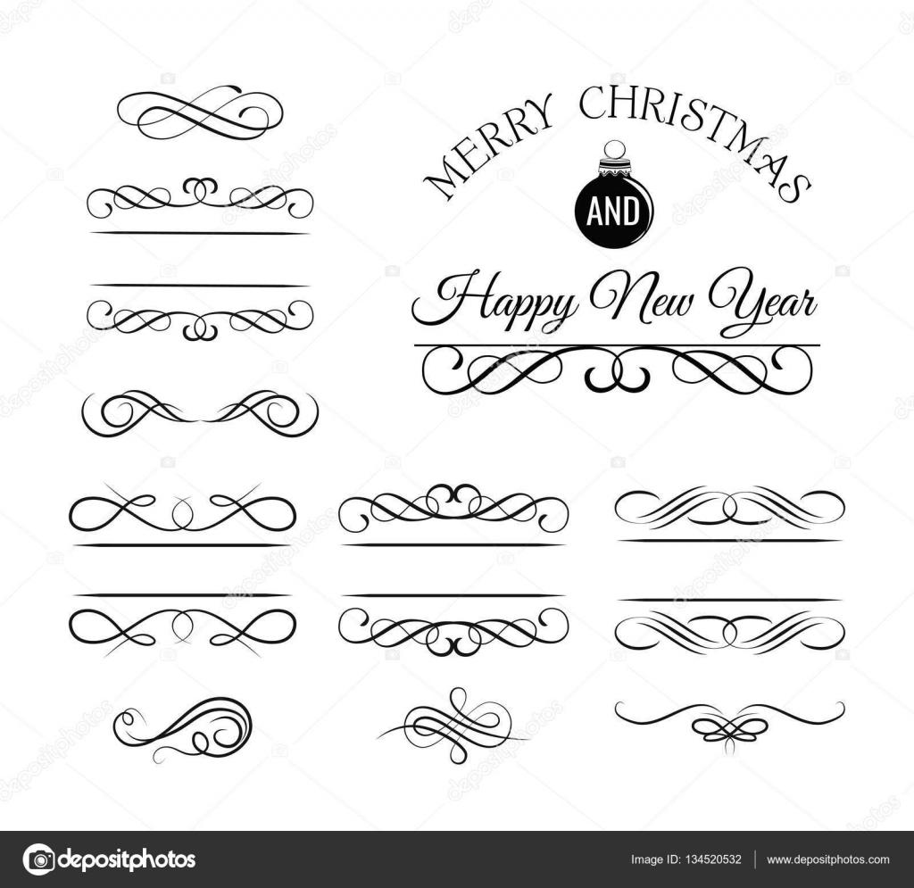Navidad y decoración Vintage de tarjeta de saludo de año nuevo y ...