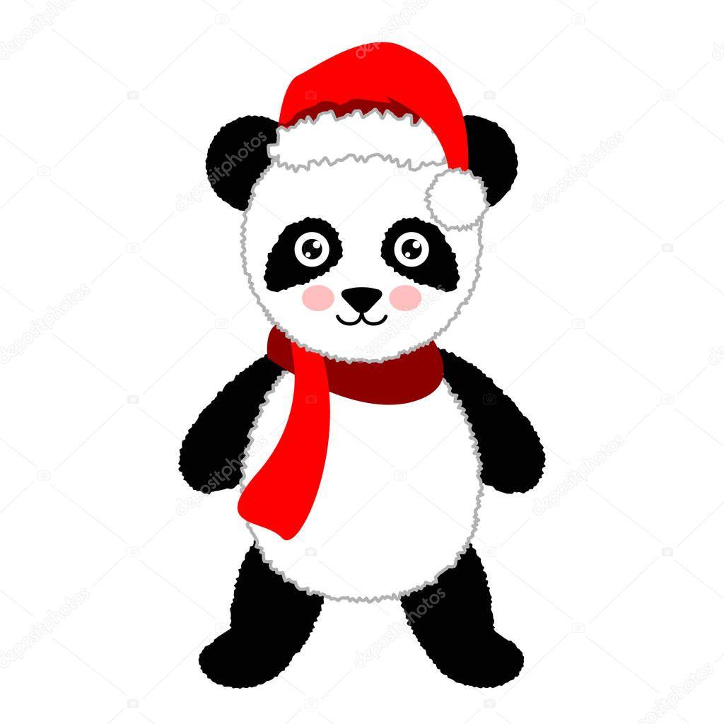 Bonnet de noel dessin anim panda habilement illustration - Dessin de bonnet ...