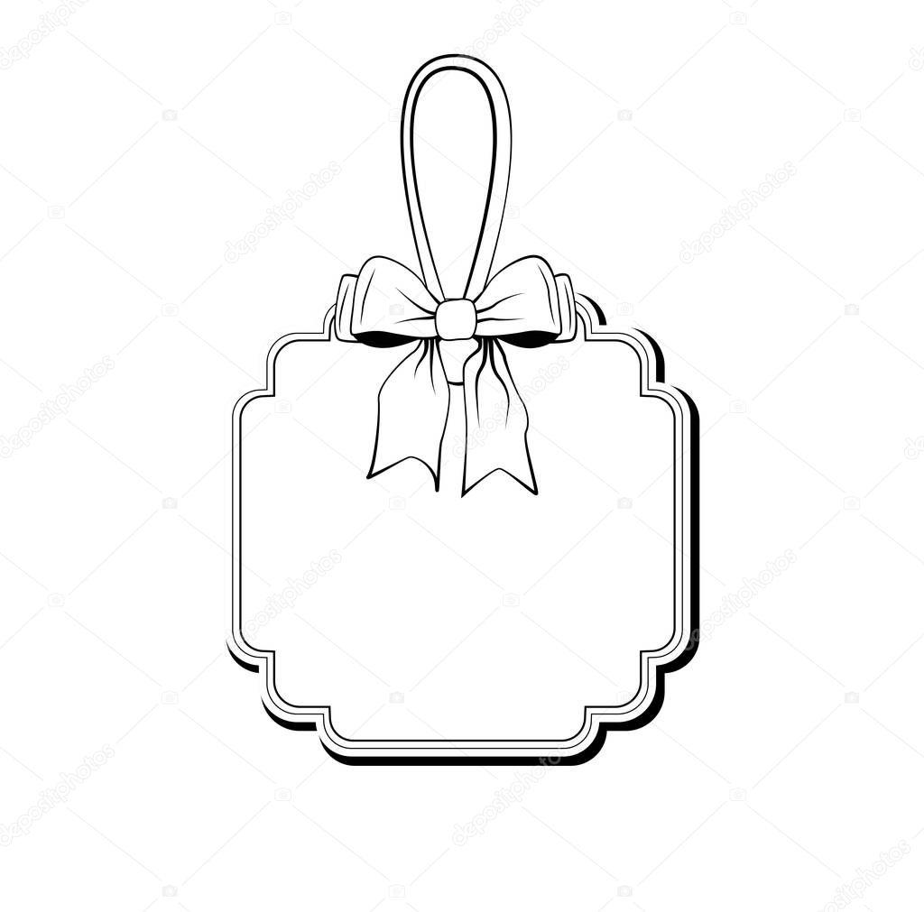 Ribbon Bow Hochzeit Invintation Etikettenvorlage. Vektor ...