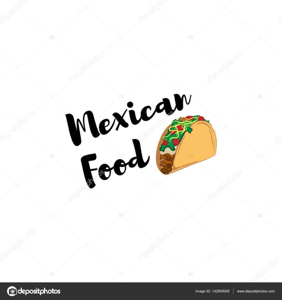 Taco Traditional mexican food . Label template or concept. Can be ...