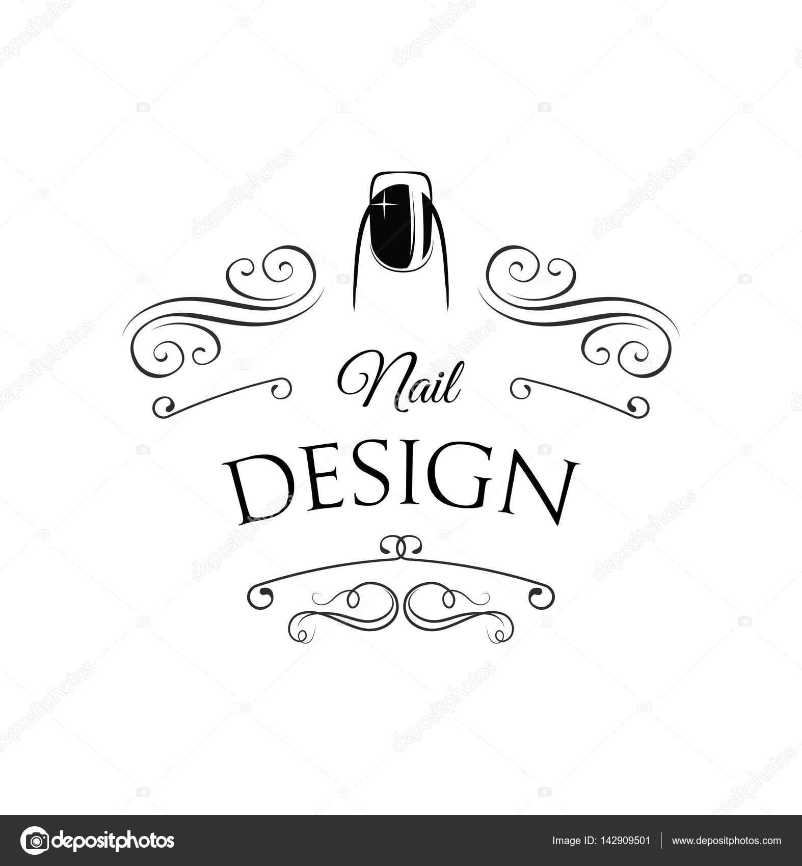 Beauty salon badge nail design makeup filigree divider swirl nail design makeup filigree divider swirl frame vector illustration vector by lh prinsesfo Choice Image