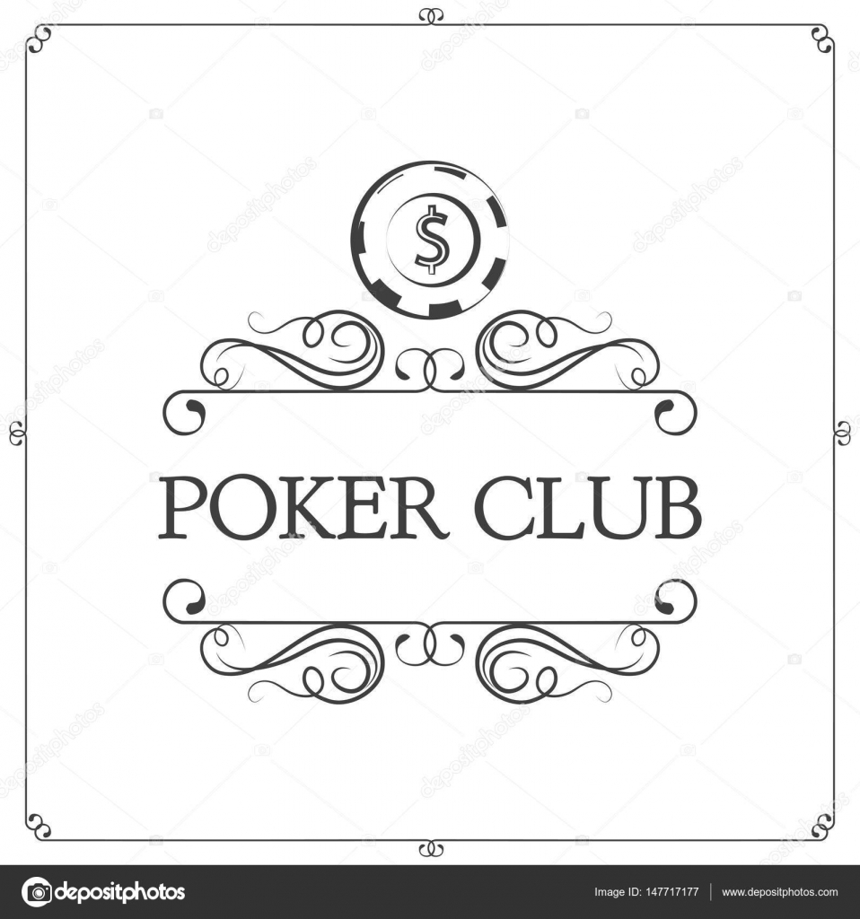 Poker Club Logo Vector Image By C Lh Vector Stock 147717177