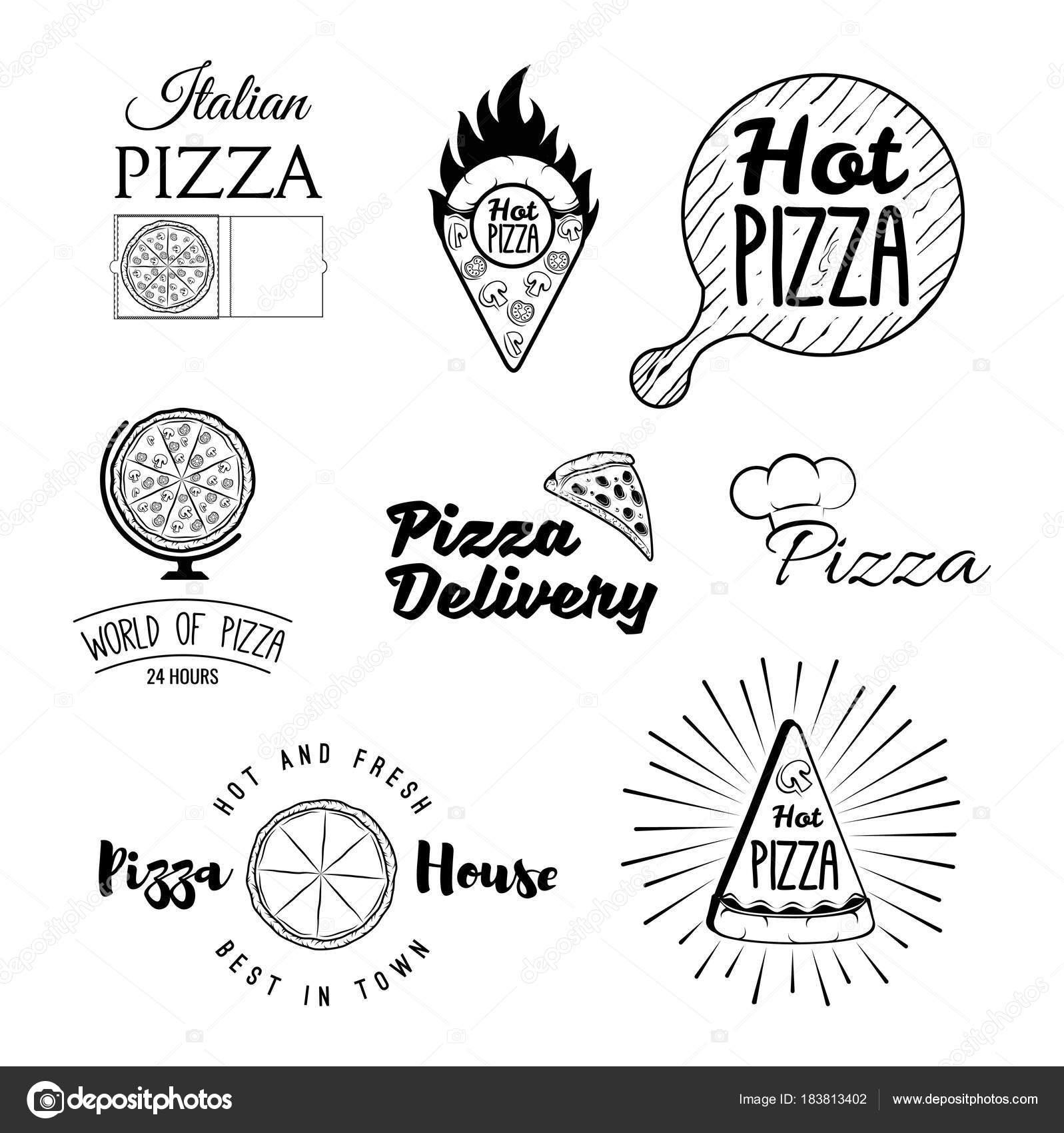 Retro italienische Küche Restaurant-Etiketten, Logos und Embleme ...