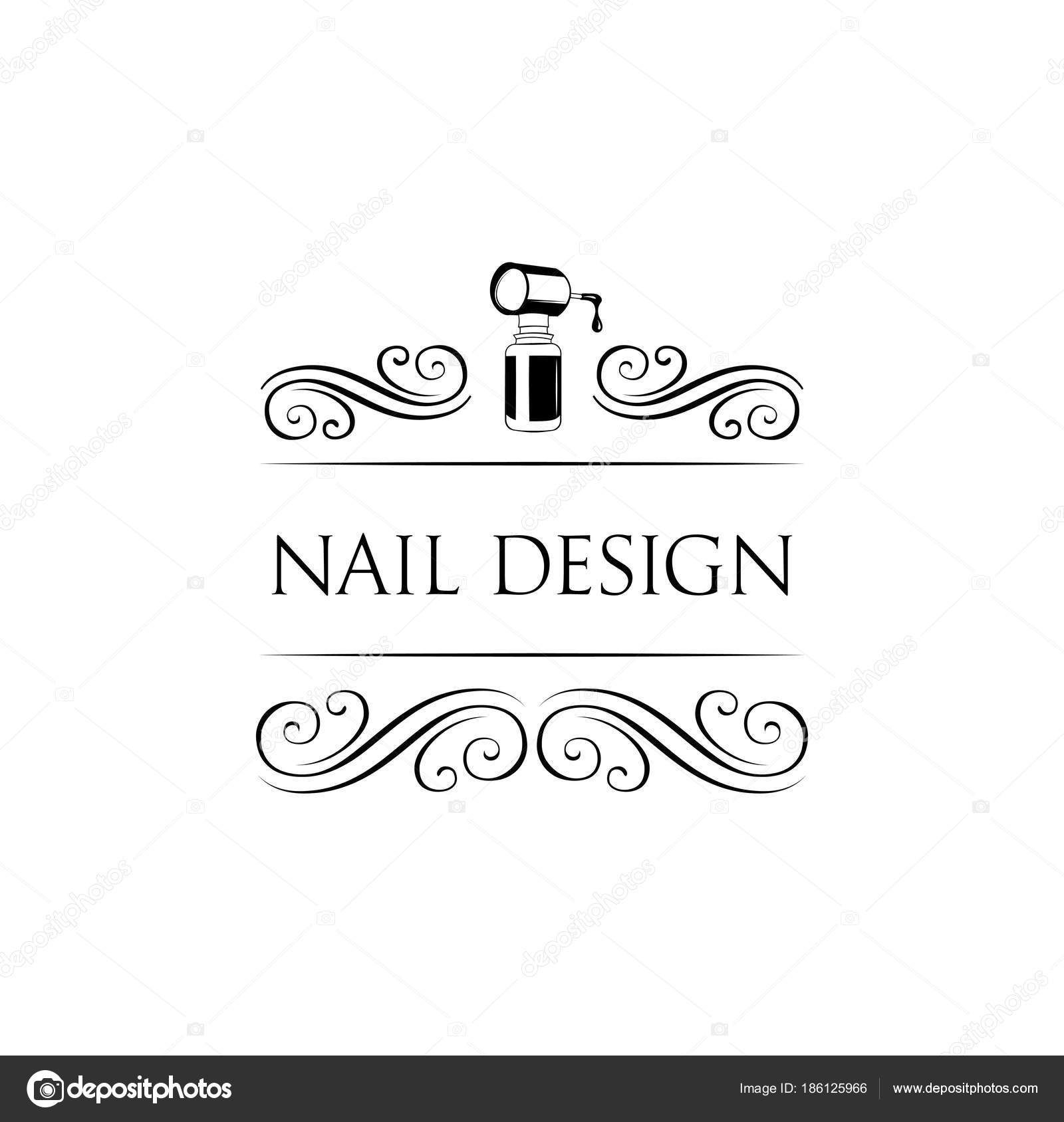 Nail art studio. Template for logo. Nail polish icon. Vector ...