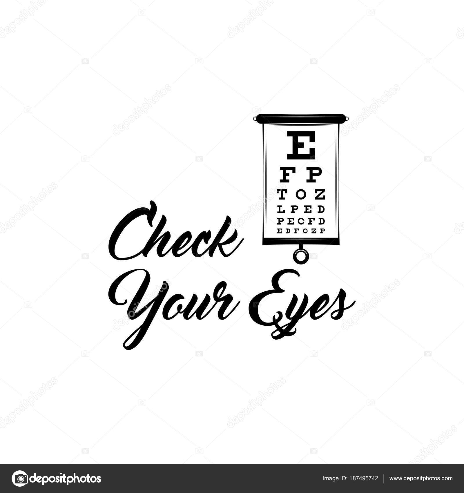 Eye test chart vision exam optometrist check medical eye eye test chart vision exam optometrist check medical eye diagnostic vector illustration geenschuldenfo Image collections
