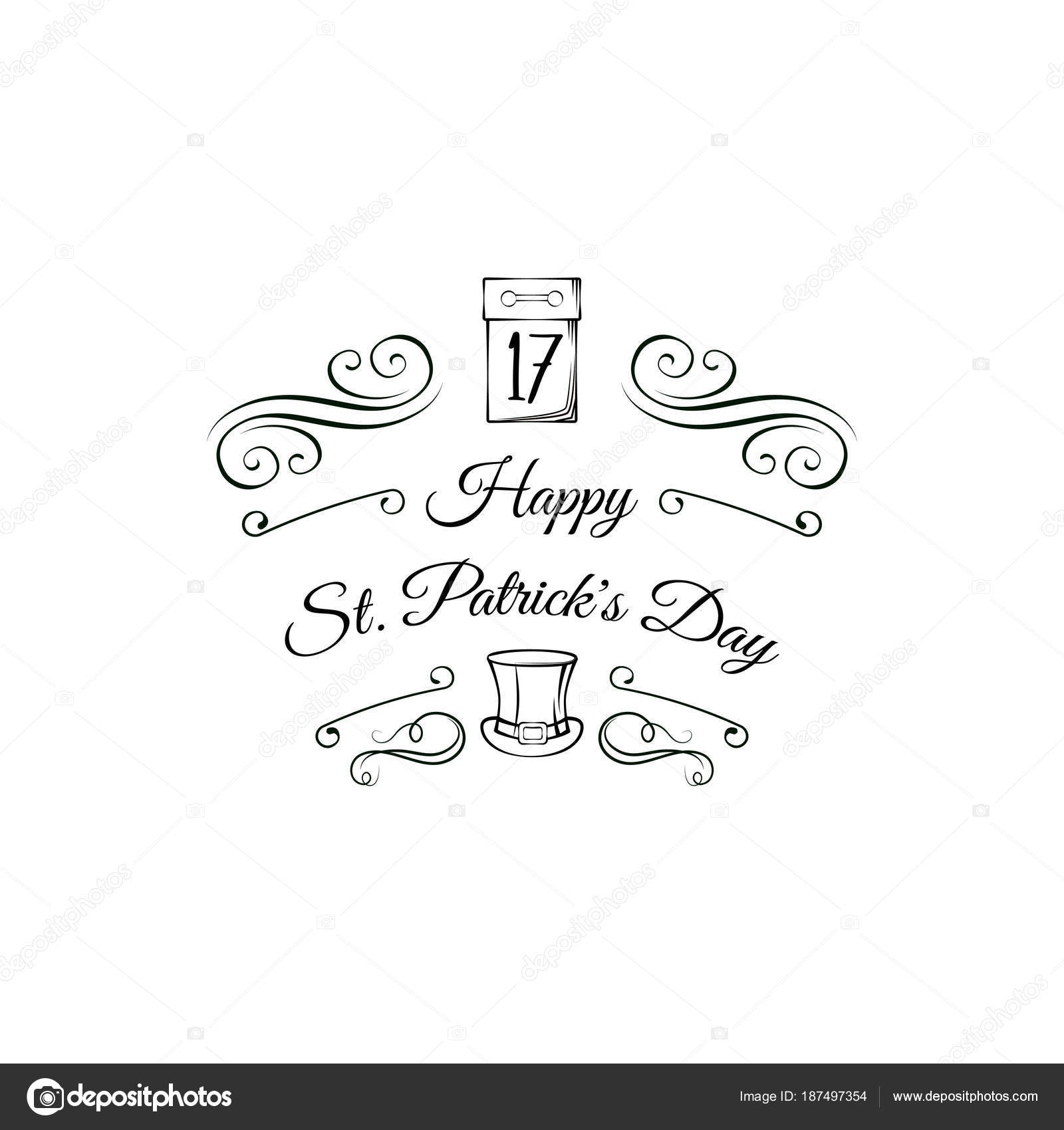 St patrick s day greeting card calendar and leprechaun s hat st patrick s day greeting card calendar and leprechaun s hat vector illustration kristyandbryce Images