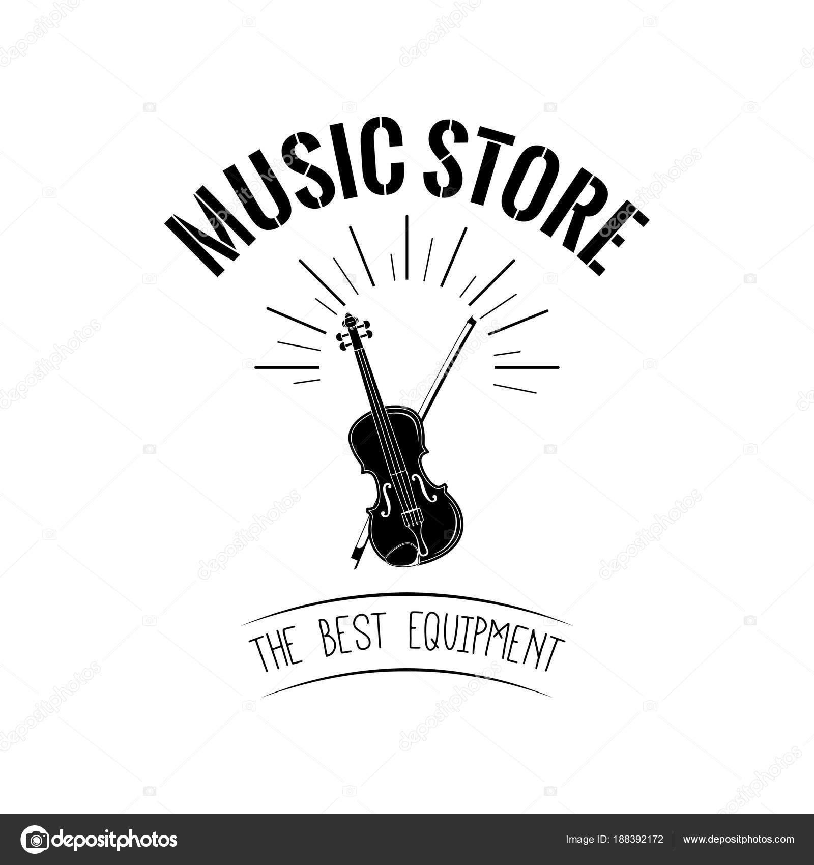 Violin Icon Musical Instrument Symbol Music Store Vector Stock