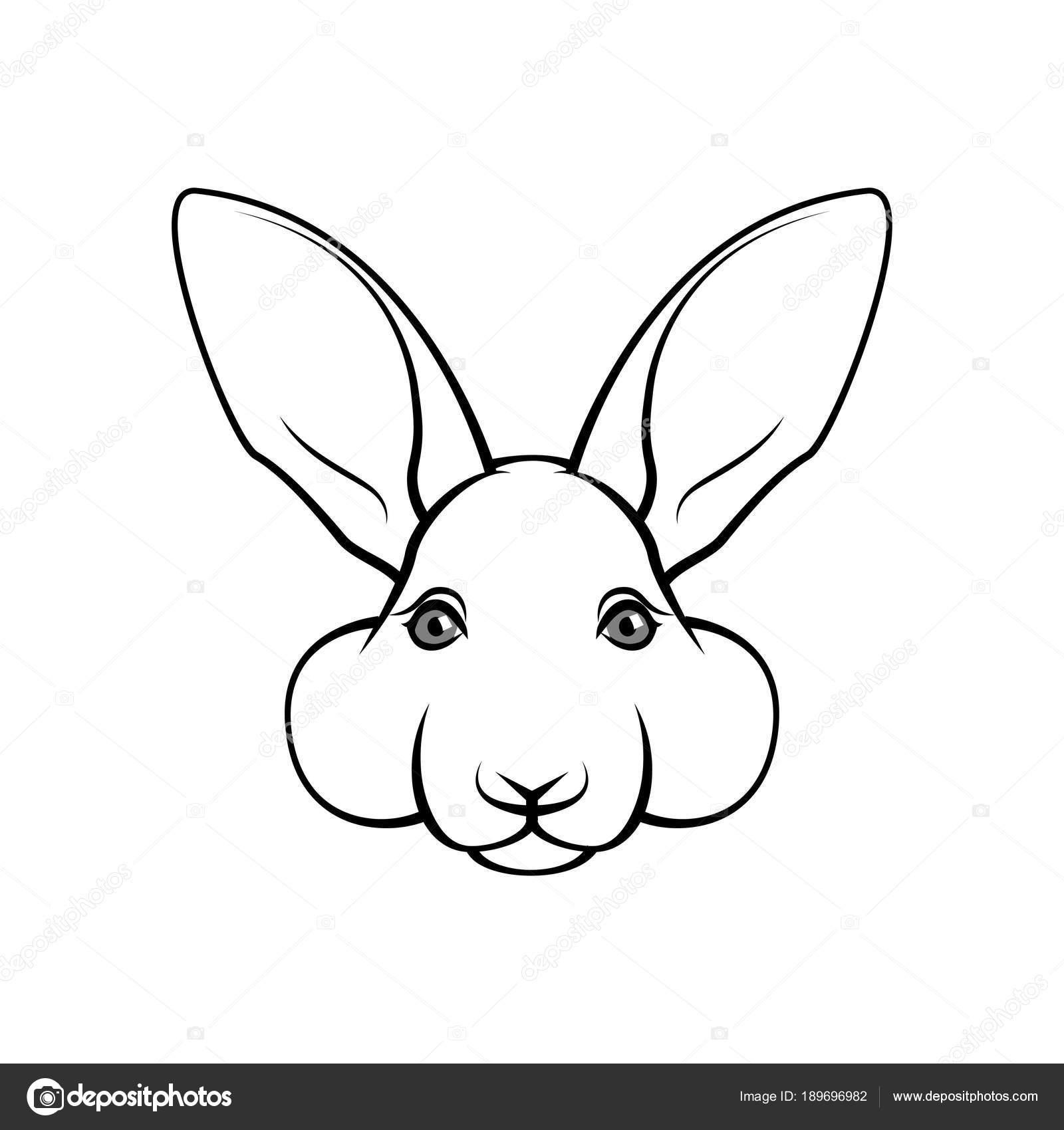 Cara De Conejo De Pascua Hecho De La Pascua Boca De Conejo Diseño