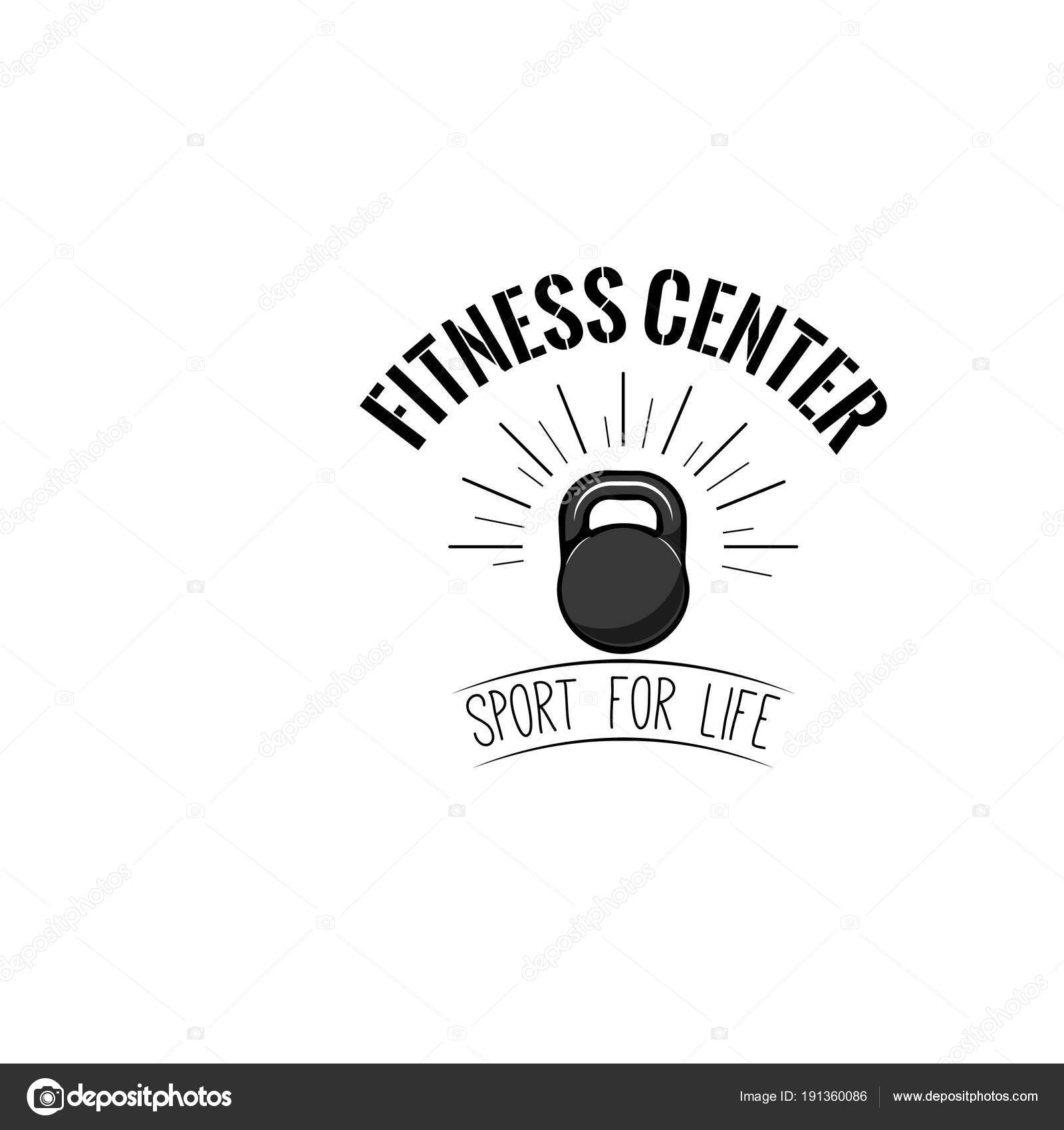 Kettlebell-Symbol. Fitness-Design-Vorlage, Fitness Logo. Sport ...