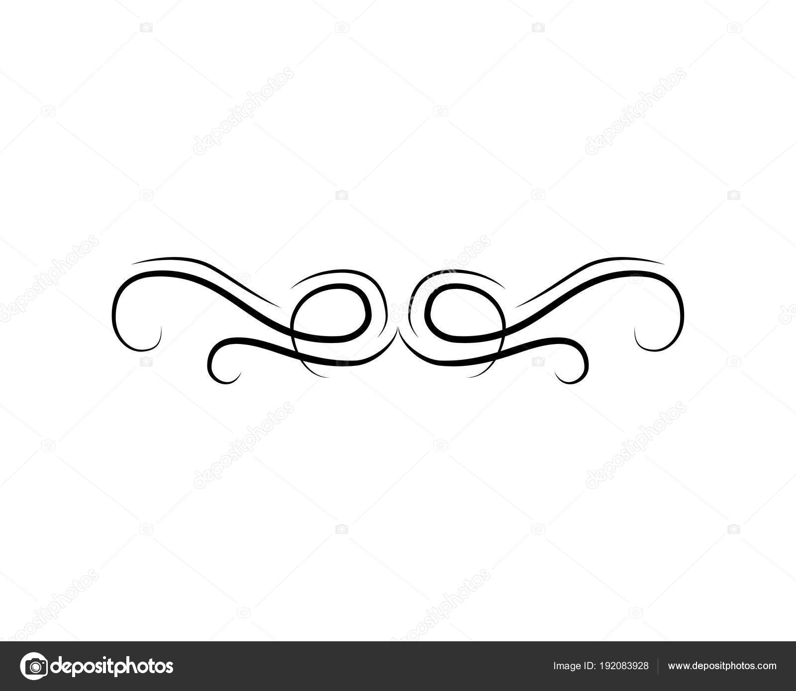 Scroll decorative element swirl curl filigree wedding invitation swirl curl filigree wedding invitation page divider vector wave vector by lh stopboris Images
