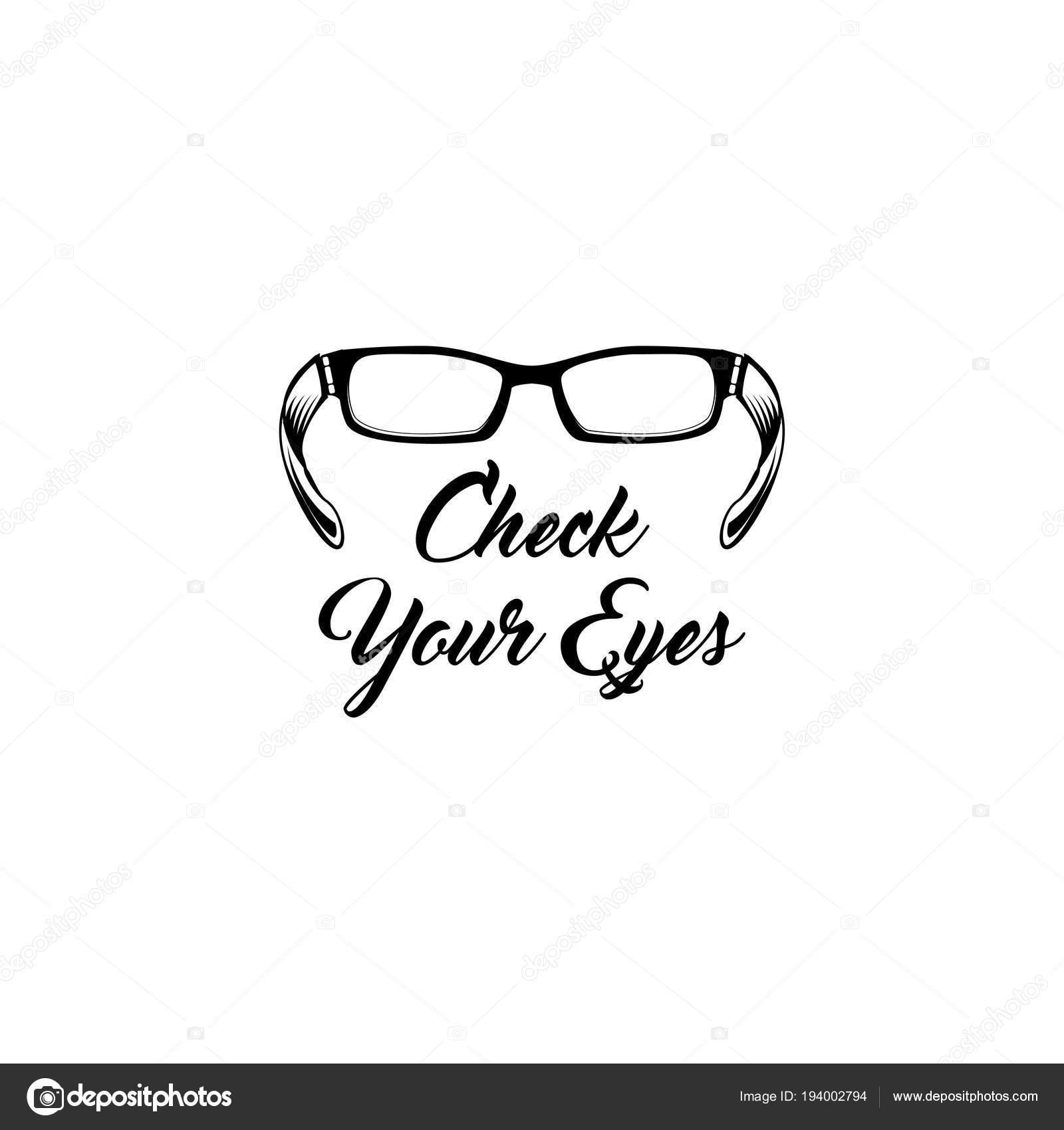 9623fc8413108f Gläser-Symbol. Augenarzt-Abzeichen. Überprüfen Sie Ihre Augen-Inschrift.  Brillen-Symbol. Zubehör-Piktogramm. Vektor-illustration — Vektor von ...