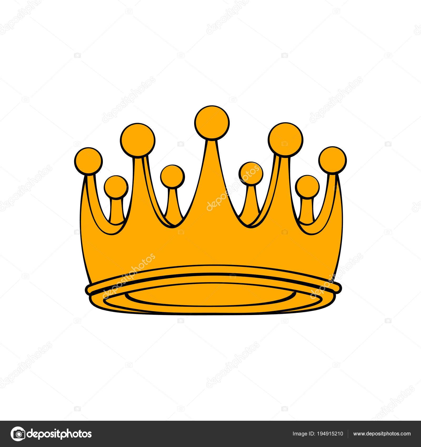 Royal Ceremonial Gold Crown Royal Symbol Decorative Design Element