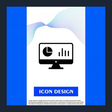 analysis Icon Isolated On Abstract Background
