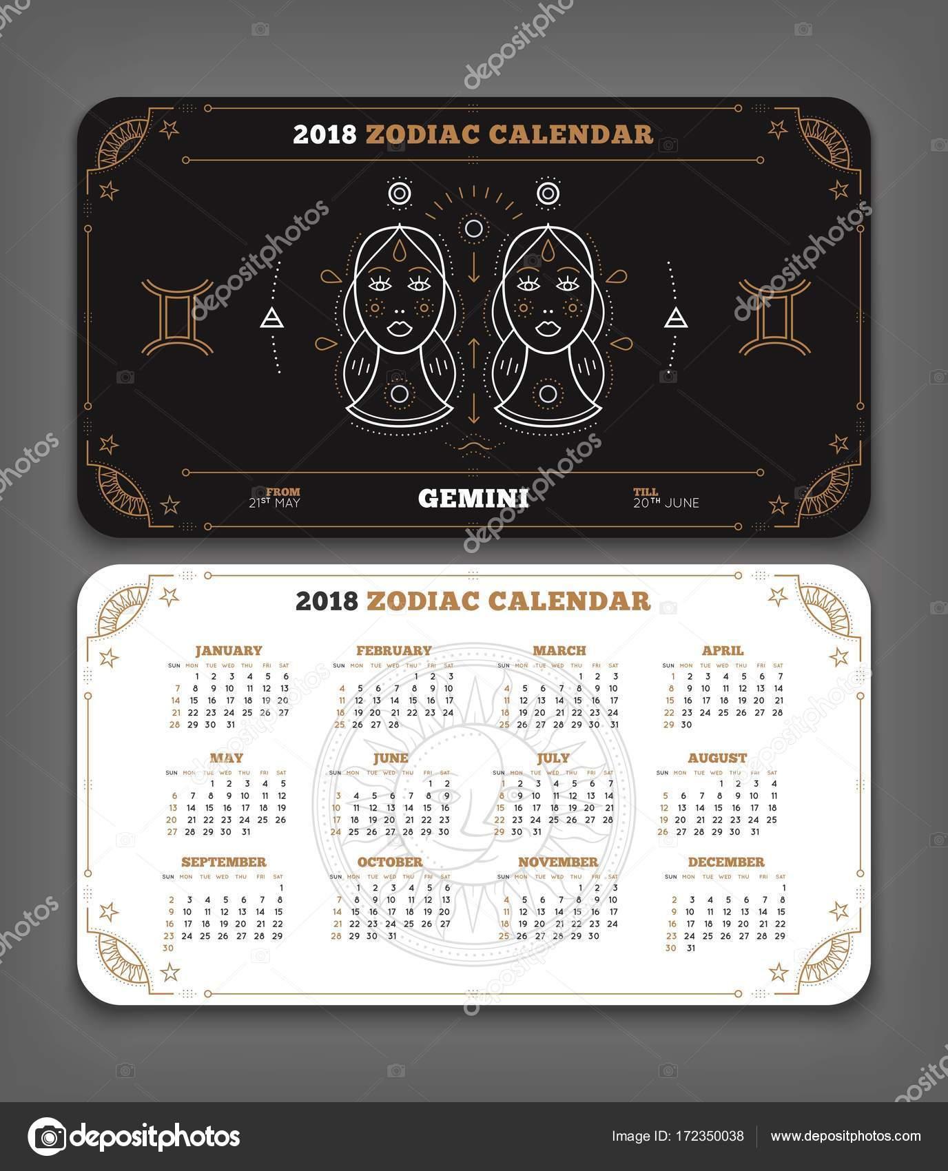 Calendario Zodiacal.Geminis Signo Zodiacal Doble Cara Geminis 2018 Ano Zodiaco