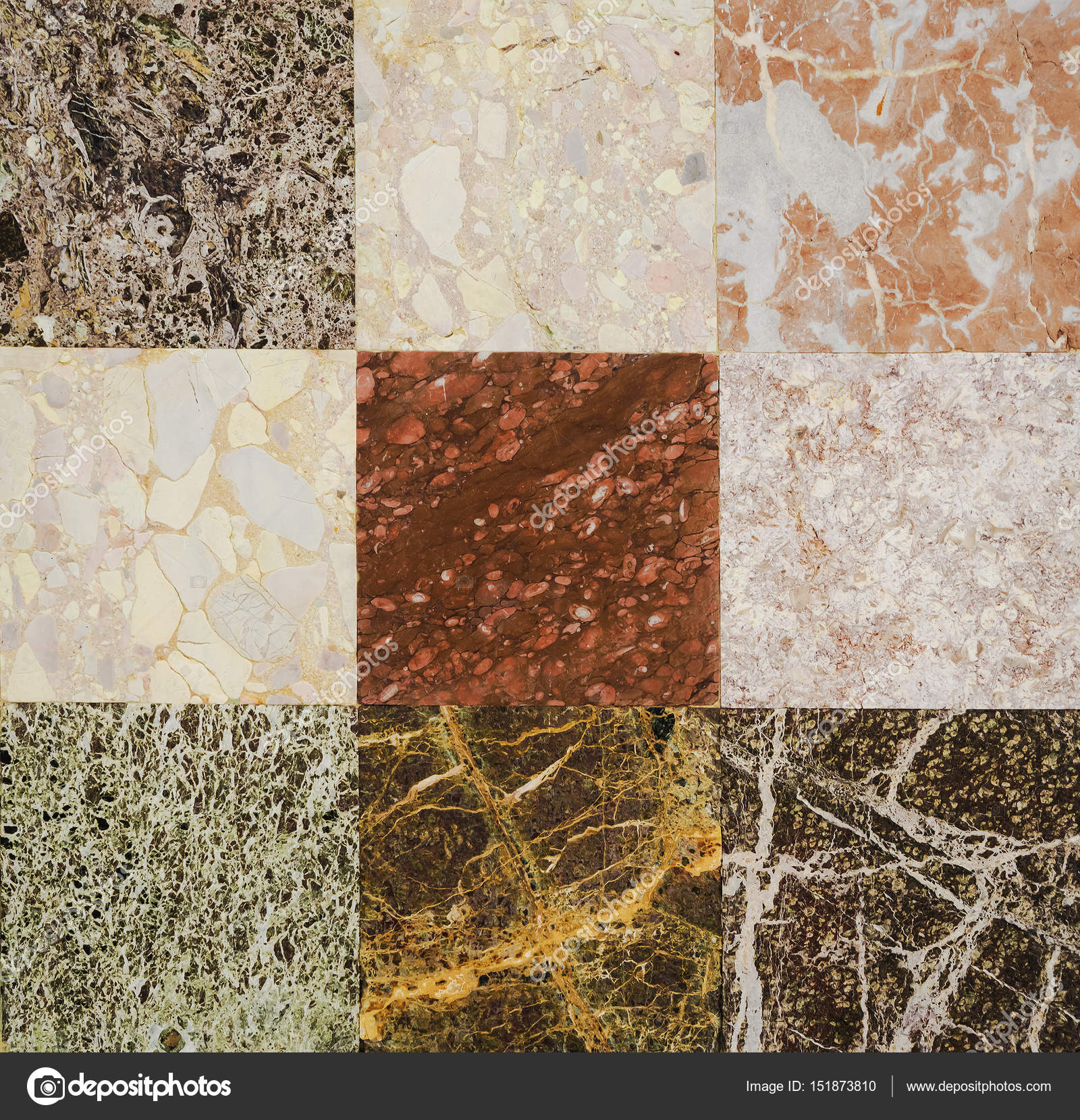 Different types of marble. Marble texture, marble background for interior  or exterior design. Marble motifs that occurs natural. Selective focus —  Stock Photo © ulkan #151873810