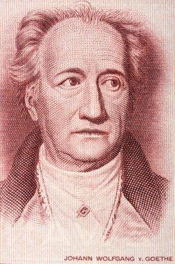 Johann Wolfgang von Goethe portrait from old German money