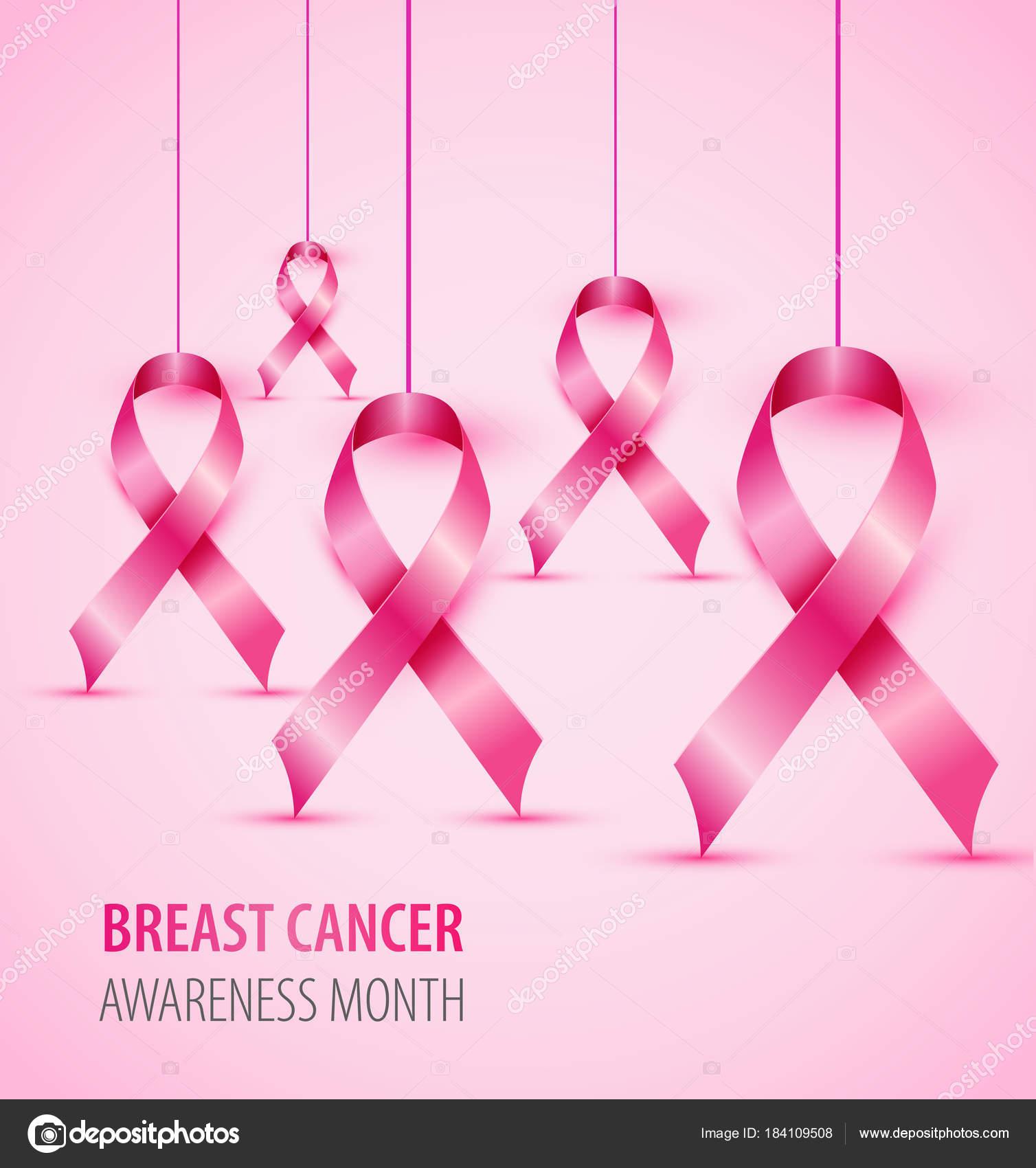 Breast Cancer Awareness Concept Illustration Pink Ribbon Symbol