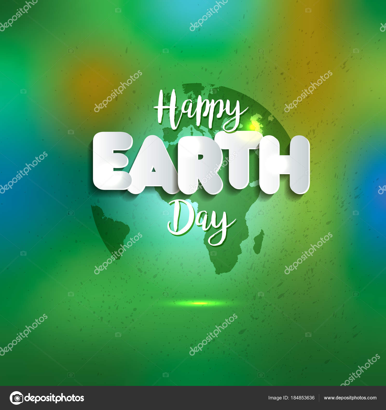 Earth day earth world map globe sign lettering in paper style earth world map globe sign lettering in paper style greeting card gumiabroncs Gallery