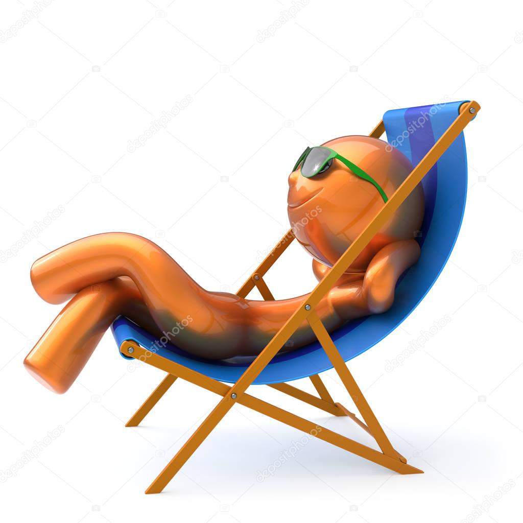 lunettes de soleil chaise longue plage homme smiley. Black Bedroom Furniture Sets. Home Design Ideas