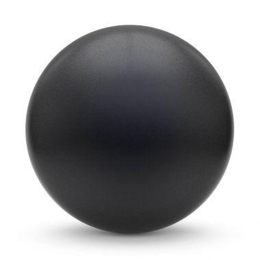 Sphere round button black matted ball basic circle geometric
