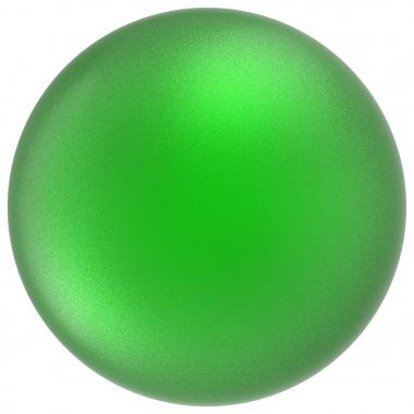 Green sphere round button ball basic matted circle badge