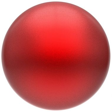 Sphere round button ball red basic matted circle geometric object