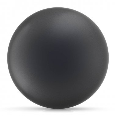 Black sphere round button ball basic matted circle figure object