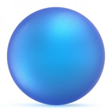 Sphere round button blue ball basic matted circle figure blank