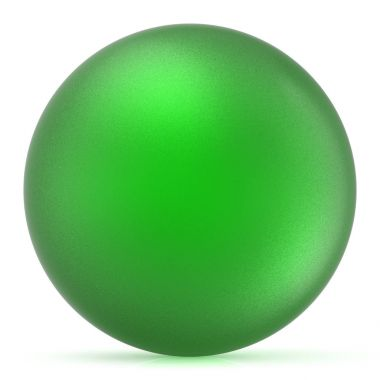 Green sphere round button ball basic matted circle blank