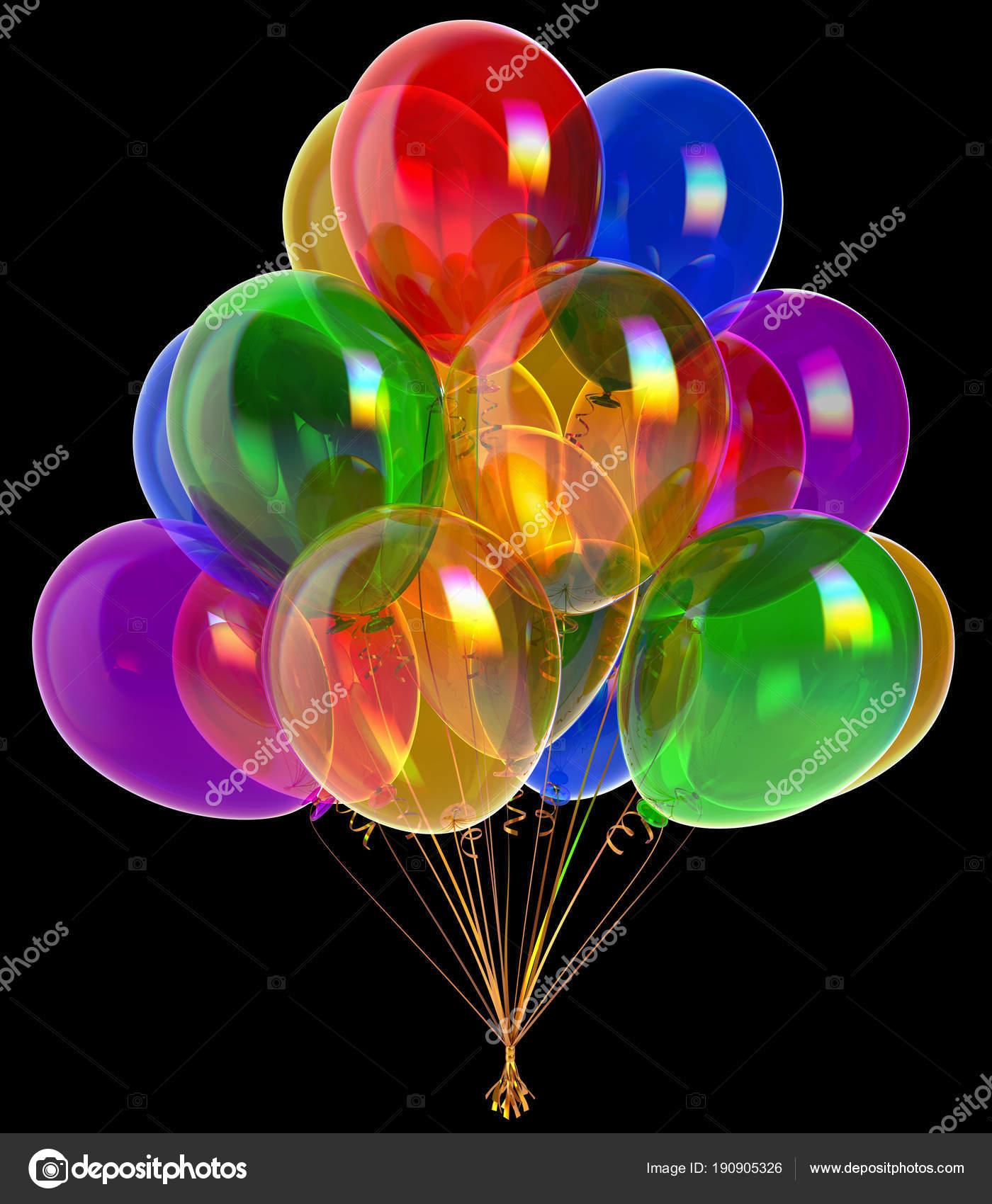 Alles Gute Zum Geburtstag Party Dekoration Bunte Luftballons