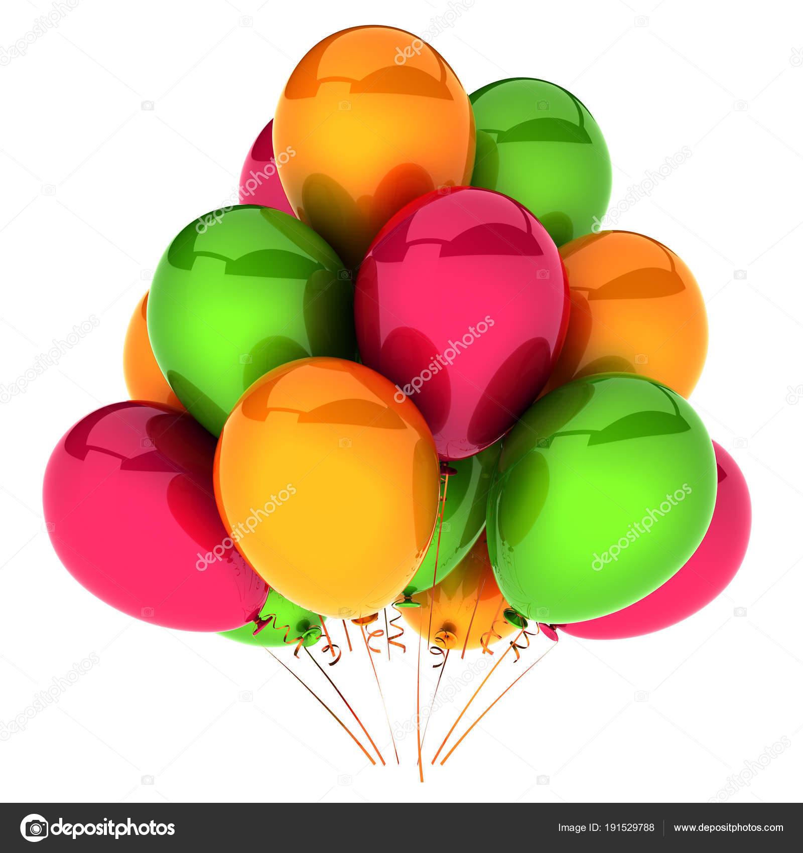 Verjaardag ballonnen partij vakantie decoratie rood oranje for Decoratie verjaardag