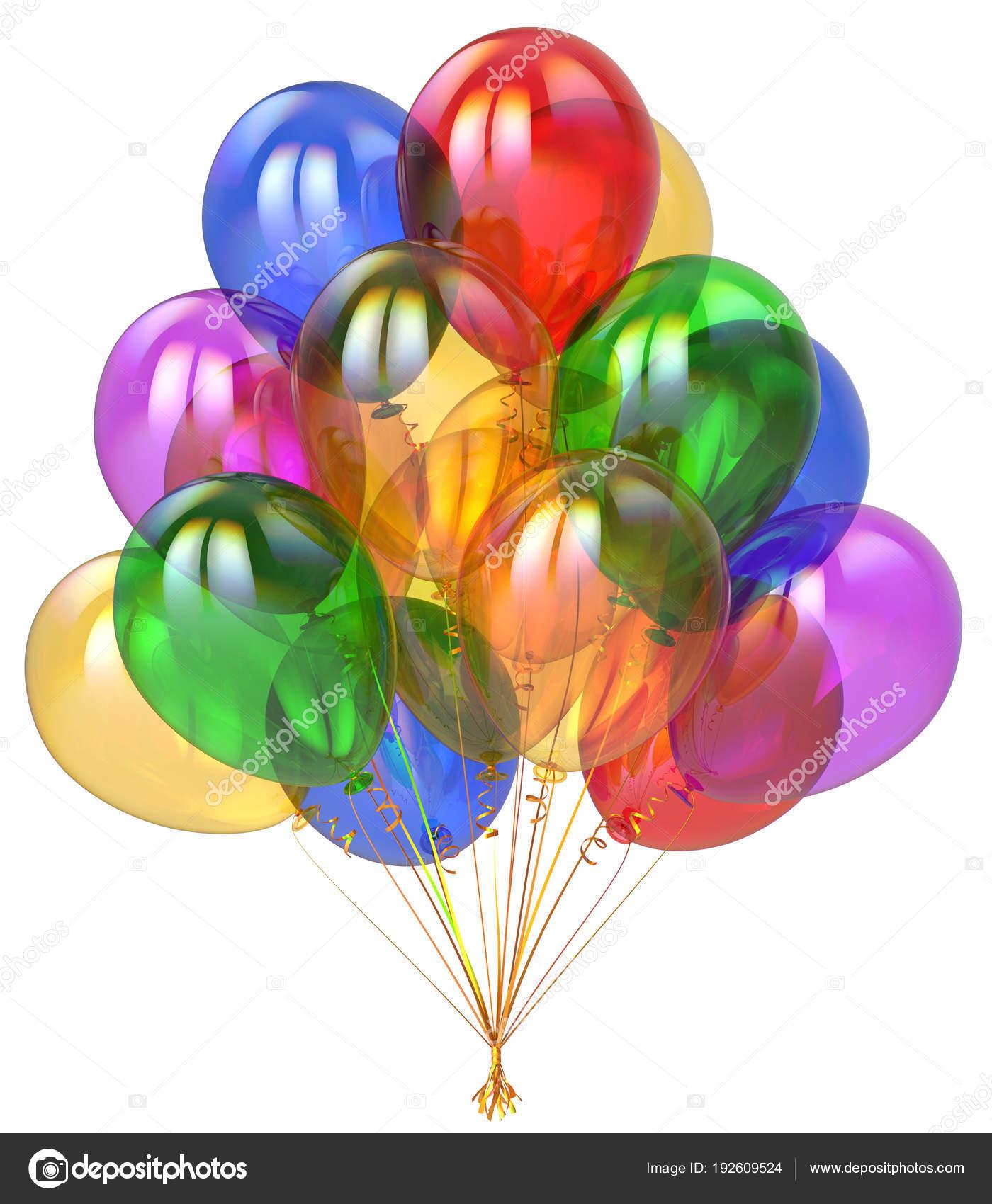 3d Darstellung Der Geburtstag Ballons Frohe Weihnachten Party