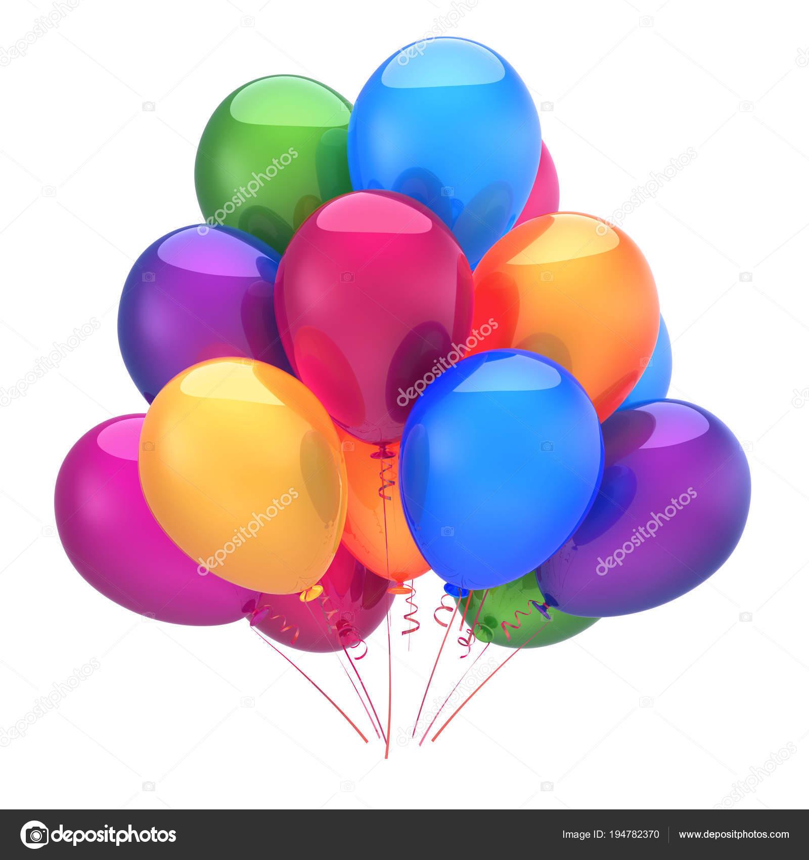 Kleurrijke Ballonnen Verjaardag Feestdecoratie Veelkleurige