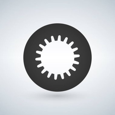 wheel or circle with internal gear design, vector illustration isolated on white background.