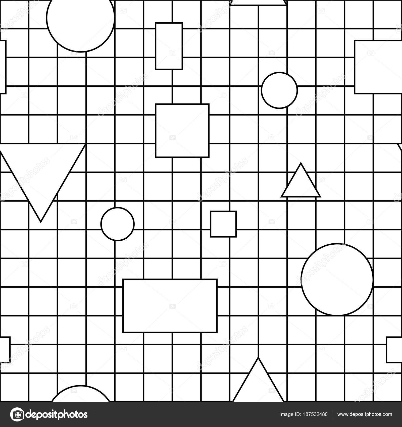 Creación de patrones sin fisuras con figuras geométricas — Vector de ...
